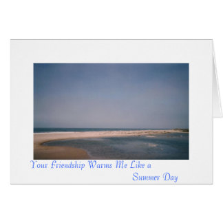 Sua amizade aquece-se… cartão comemorativo