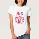 Sua arte da palavra da melhor metade, design de tshirts