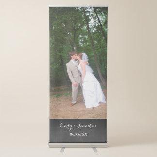 Sua bandeira do casamento da foto banner retrátil