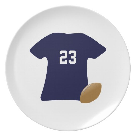 Sua camisa do futebol com bola v2 louças de jantar