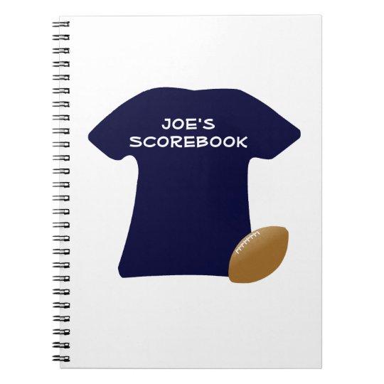 Sua camisa do futebol com caderno da bola