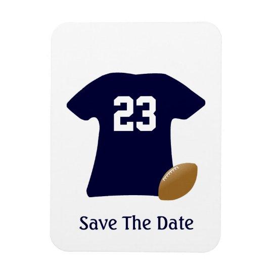 Sua camisa do futebol com imã salve a data da bola