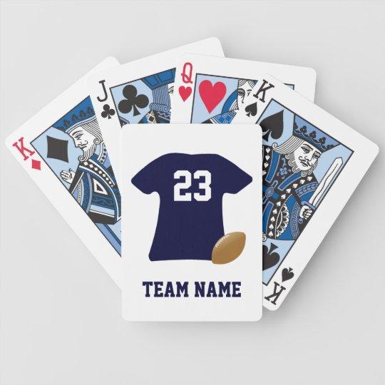 Sua camisa do futebol com os cartões de jogo da jogos de baralhos