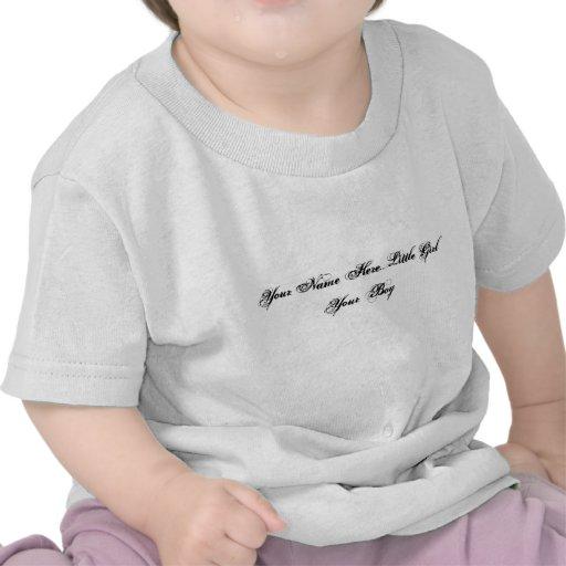 Sua do nome menina aqui… seu menino tshirts