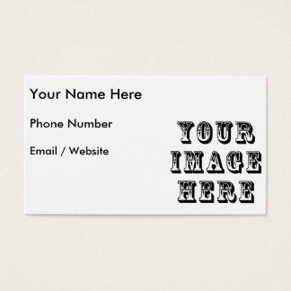 Sua imagem sobre cartão de visitas