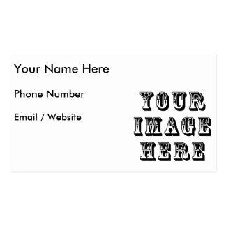Sua imagem sobre cartao de visita