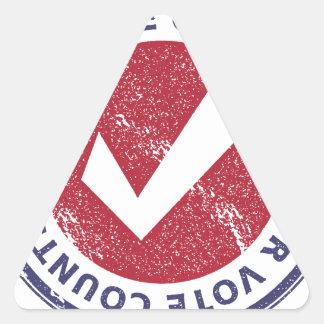 suas contagens do voto adesivo triangular