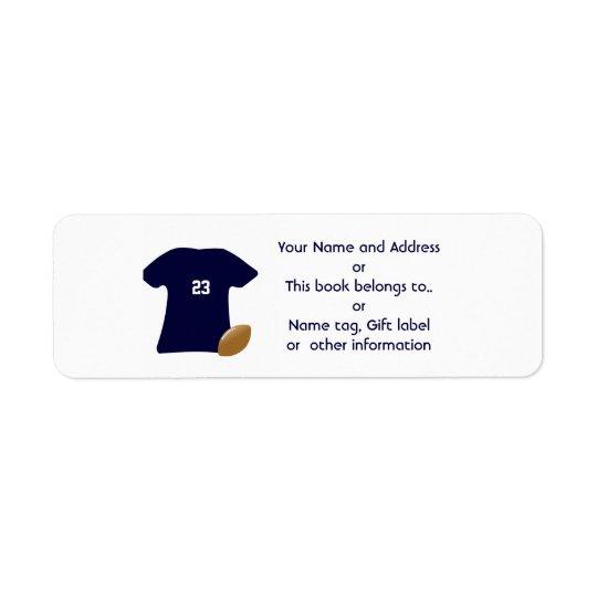 Suas etiquetas de endereço do remetente da camisa etiqueta endereço de retorno