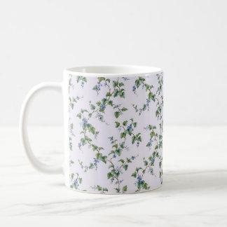 suaves do muito de COM flores do padrão Caneca De Café