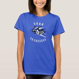 Suba aos pássaros geométricos do art deco do camiseta