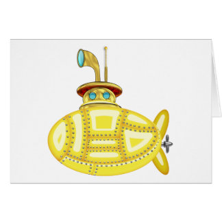 Submarino amarelo cartão