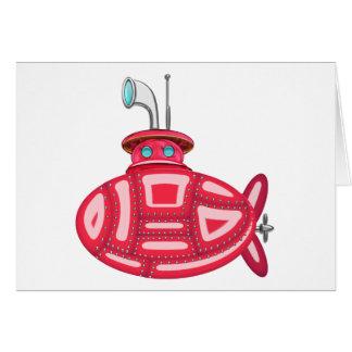 Submarino vermelho cartão