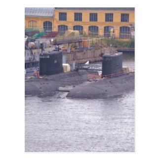 Submarinos de ataque soviéticos cartão postal
