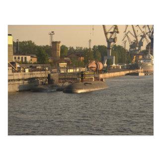 Submarinos do russo cartão postal