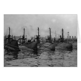 Submarinos prontos para Ação, 1911 Cartão