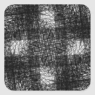 sucata marrom oxidada S da antiguidade do abstrato Adesivos Quadrados