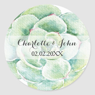 succulent da aguarela que wedding etiquetas