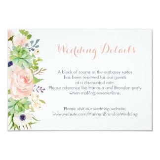 Succulents do cacto que Wedding o cartão da