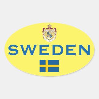 Suecia - etiqueta do Oval do Euro--Estilo da