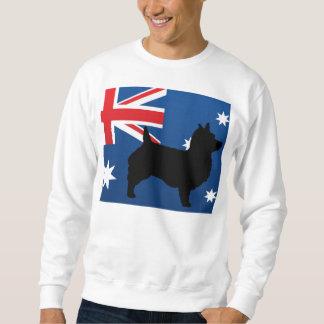 Sueter bandeira de Austrália da silhueta do terrier