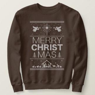 Suéter Cristão religioso da camisola feia do Feliz Natal