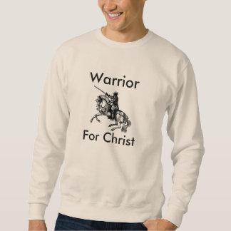 Suéter Guerreiro masculino para a camisola do cristo