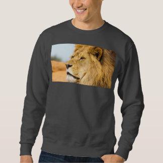 Sueter Leão grande que olha longe