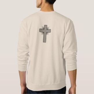 Sueter Não preocupe a camisola w/Gray alargou-se cruz