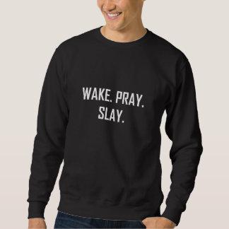 Suéter O acordar Pray massacra