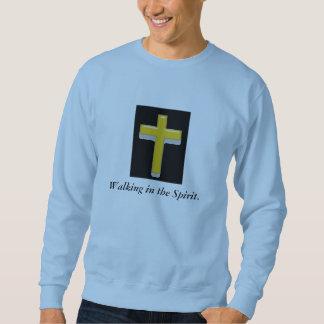 Suéter Passeio na camisola dos homens da cruz do espírito