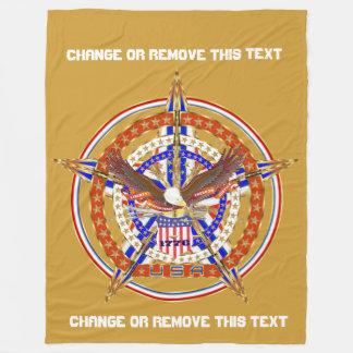 Sugestões patrióticas da opinião do ouro U.S.A.1 Cobertor De Lã