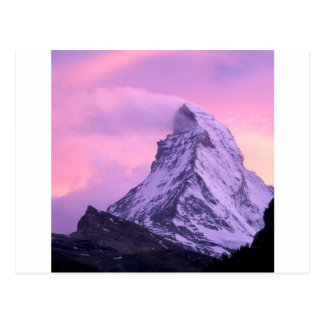 Suiça de Matterhorn da erosão do vento do parque Cartão Postal