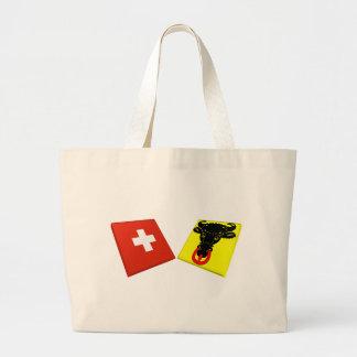 Suiça e bandeiras de Uri Bolsas De Lona