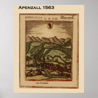 Suiça histórica, Appenzall 1563 Poster