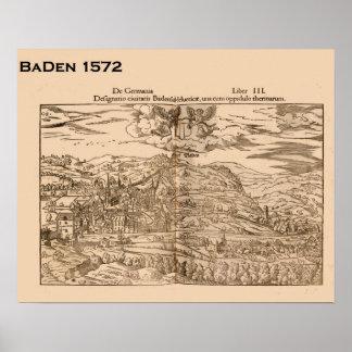 Suiça histórica, Baden 1572 Poster