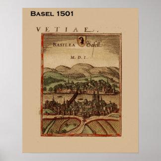 Suiça histórica, Basileia 1501 Pôster