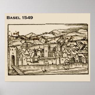 Suiça histórica, Basileia 1549 Pôsteres