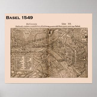 Suiça histórica, Basileia 1549 Poster