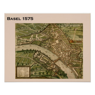 Suiça histórica, Basileia 1575 Pôsteres