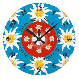Suíça Suisse Svizzera Svizra Switzerland relógio Relógio Para Parede