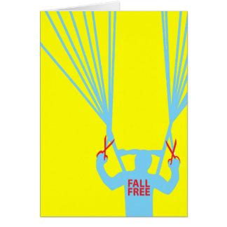 suicídio skydive cartão de nota