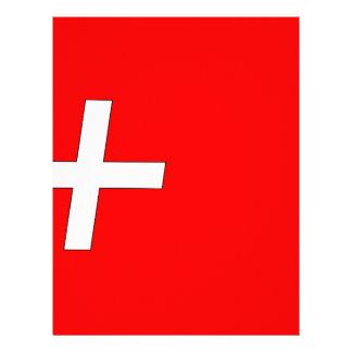 Suíço-Bandeira Papel Timbrado