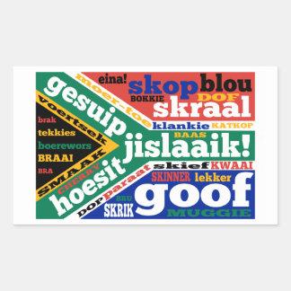 Sul - calão e linguagens cotidianas africanos adesivo retangular