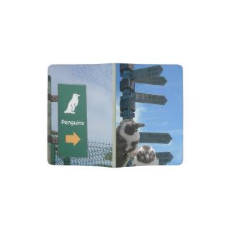 Sul - suporte africano do passaporte dos pinguins capa para passaporte