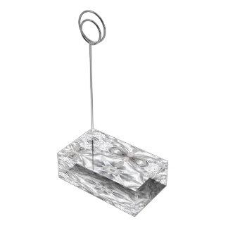 Sumário do cetim e do laço suportes para cartoes de mesa