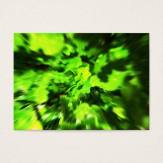 Sumário verde-claro cartão de visitas