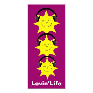 Sun 25 & marcador da vida de Lovin dos fones de ou Planfetos Informativos Coloridos