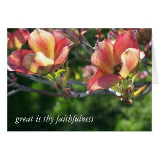 Sun através das flores cartão comemorativo