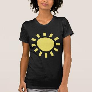 Sun Símbolo de tempo retro Camisetas