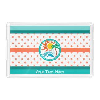 Sun & surf bandeja de acrílico